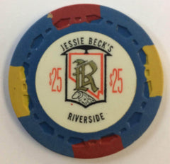 Riverside Jessie Beck's Casino $25 Chip Reno