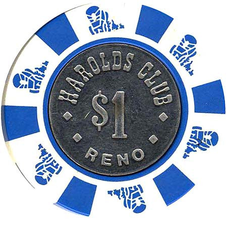 Harold's Club $1 white chip - Spinettis Gaming - 1