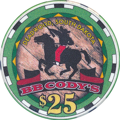 B.B. Cody's Casino $25 (Green) Chip