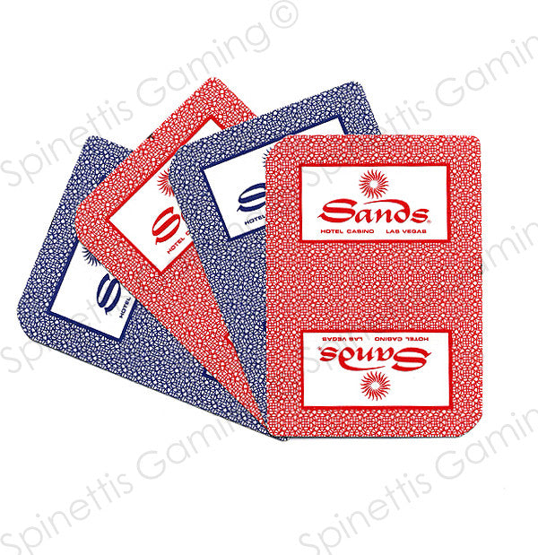 Sands Casino Las Vegas Playing Card Deck Deck - Spinettis Gaming