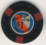 Cal Vada $1 (black 1948) chip - Spinettis Gaming - 2