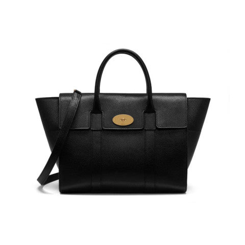 Mulberry Bayswater with Strap Black Handbag