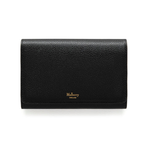 Mulberry Black Medium Continental French Purse