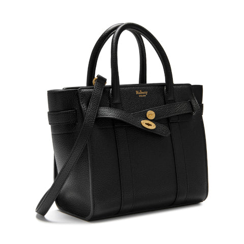Mulberry Black Mini Zipped Bayswater Handbag