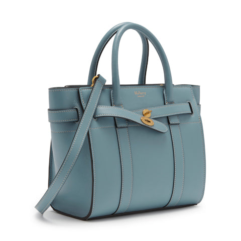 Mulberry Nordic Blue Mini Zipped Bayswater Handbag