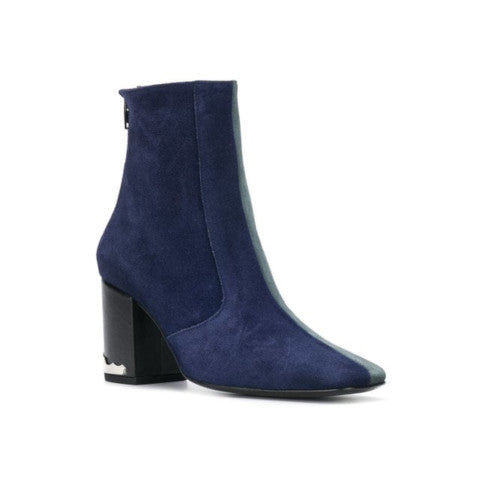 Toga Pulla Blue Suede Mix Boot