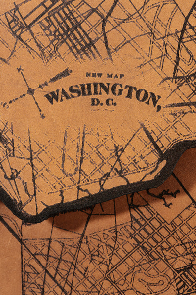 Washington DC Map Clutch
