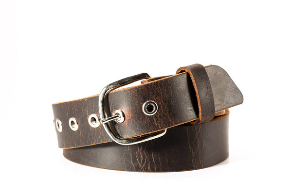 Genuine distressed buffalo leather belt with nickel eyelets 1 1/2 wide size 31 one only