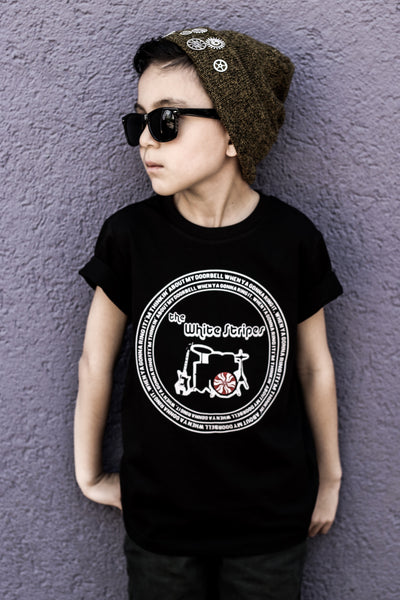 White Stripes kiddie tee