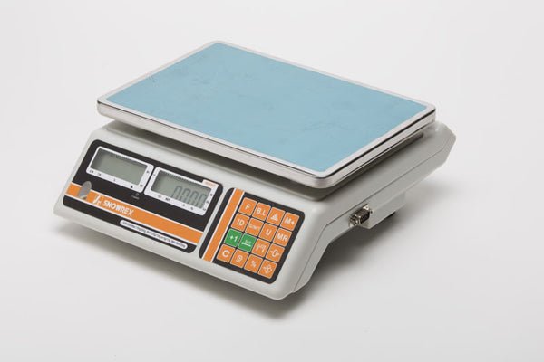New Zealand trade approved check-weighing scale. Counting scale