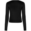 Black Stretch V Neck Button Through Cardigan - Pretty Kitty Fashion