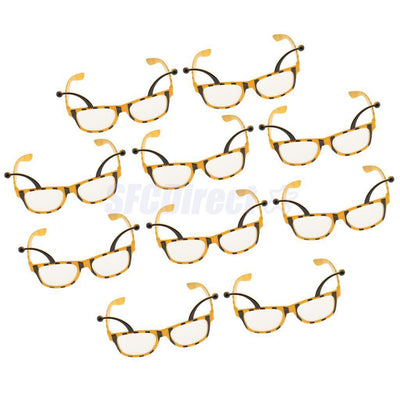 10 Pieces Funny Bee Party Glasses Honeybee Eyeglasses Costume Fancy Dress