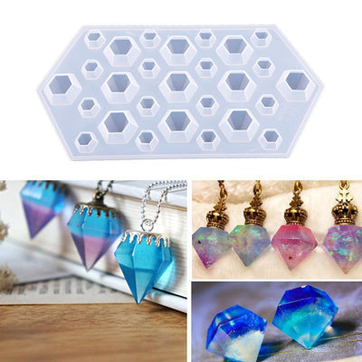 DIY Silicon Diamond Mold Silicone Jewelry Mould Baking Sugarcraft Mold Tools
