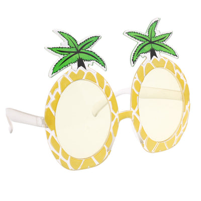 5 Sets Novelty Tropical Pineapple Sunglasses & Plastic Drink Cup Party Props