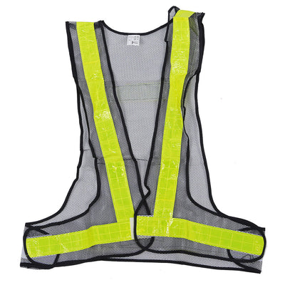 Hi-Viz Reflective Vest High Visibility Warning Black Yellow M2R6