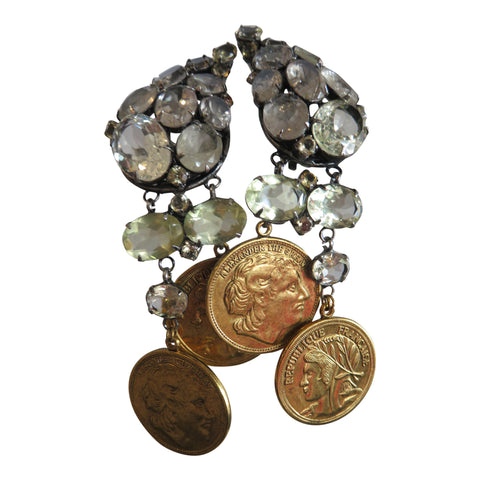Iradj Moini Double coin earrings