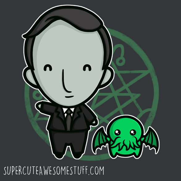 HP Lovecraft and Friends T-Shirt
