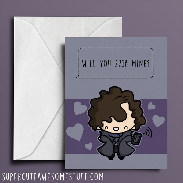 Will you 221B Mine - Valentine's Card