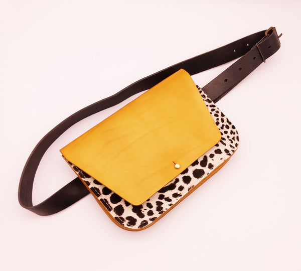 Gold Clutch Belt Bag