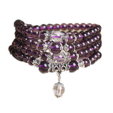 Purple Rhinestone Mala Beads