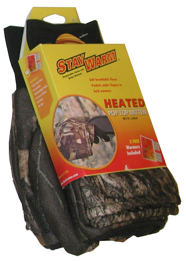 Stay Warm Heated Pop-Top Mittens