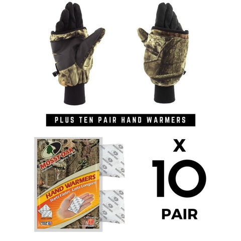 Pop Top Mitten + (10) Pair Hand Warmers Combo