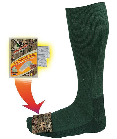 Heated Mid Calf Wool Sock