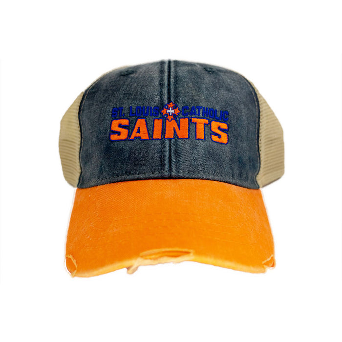 Saints Cap - Denim / Orange