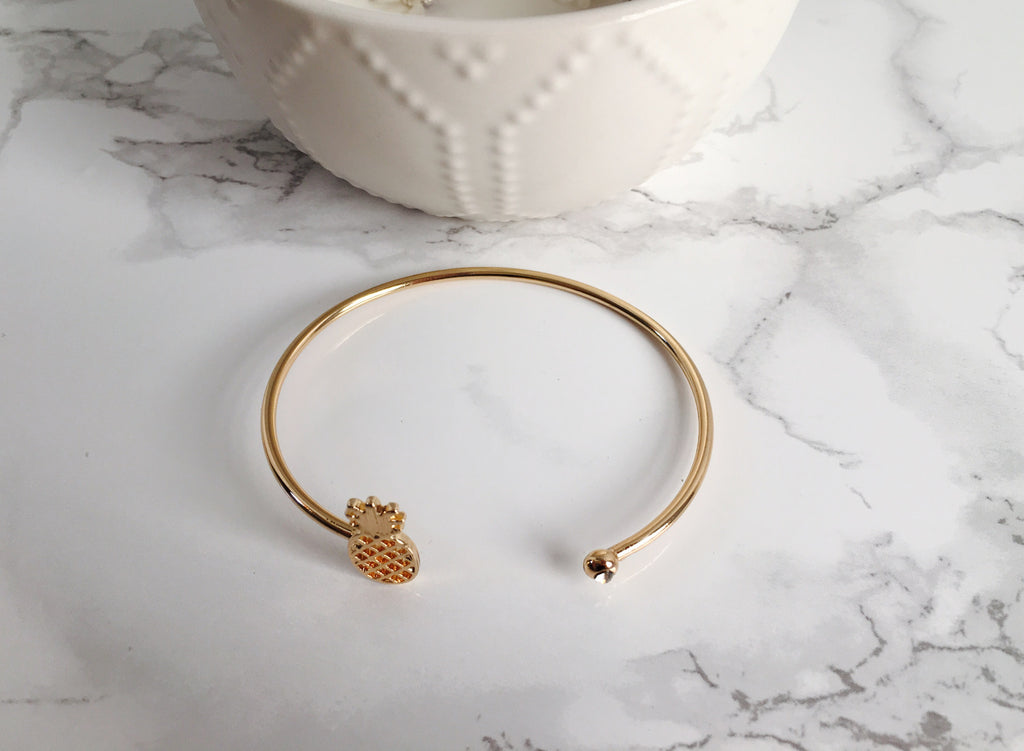 Pineapple Cuff Bracelet- Gold - Anna Jane  - 3
