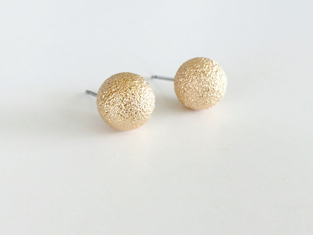 Gold Ball Studs - Anna Jane  - 1