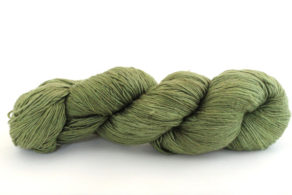 Reclaimed Silk - Lace Weight - Moss
