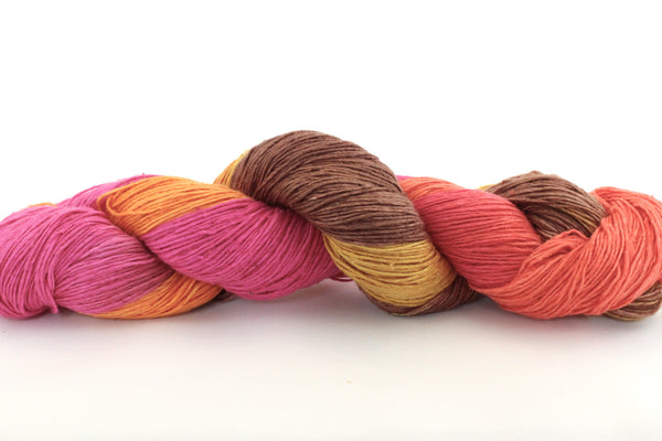 Reclaimed Silk - Lace Weight - Autumn