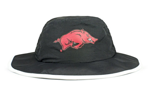The Arkansas Razorbacks Black Waterproof Boonie