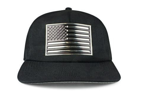 The Chrome & Country Unstructured Wool Snapback
