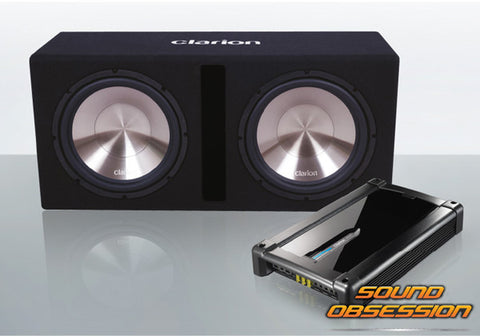 "Clarion DB3021XR 2000W DUAL 12"" Subwoofer & Mono Amplifier Pack"