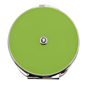 Vicci Green Double Mirror Compact with Gemmed Lid