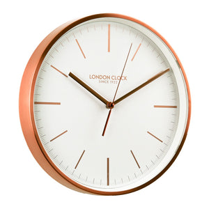 London Clock 1922 30cm Brushed Copper Metal Case Wall Clock