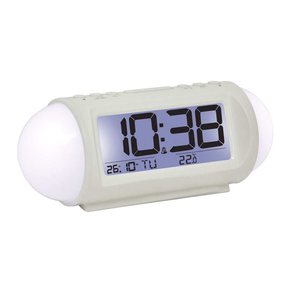 London Clock Co 7cm White Digital Alarm Clock