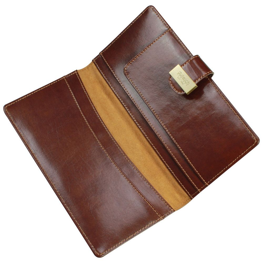Dulwich Designs Leather Heritage Chestnut Travel Wallet