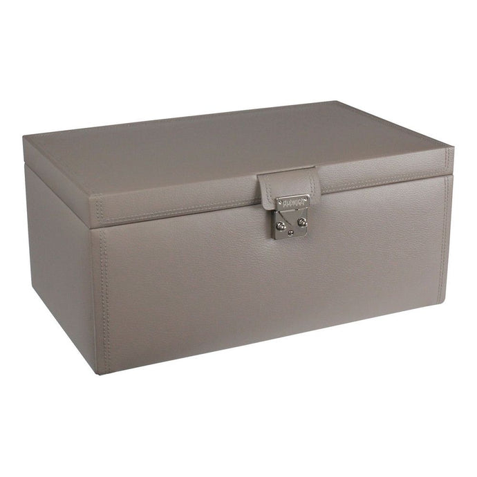 Dulwich Designs Leather Mink Extra Large Jewellery Box