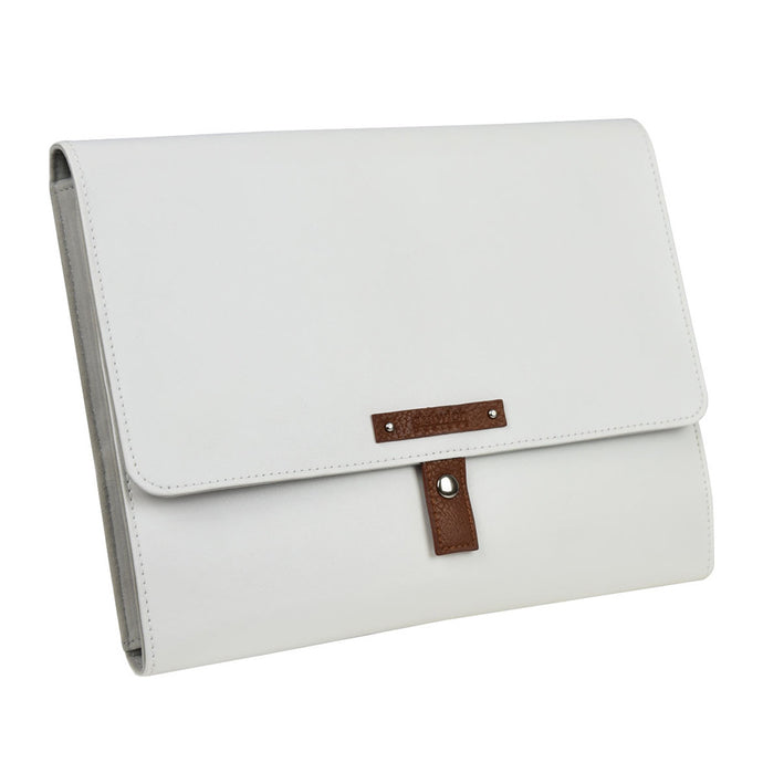 Dulwich Designs Tuscany White/Tan Jewellery Portfolio Folder