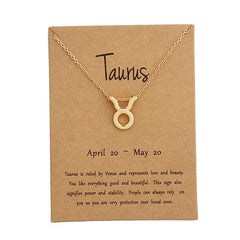 Taurus Zodiac Sign Necklace Gold