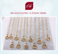 Cancer Zodiac Sign Necklace Gold