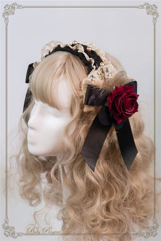 Circus Princess Rose Head Dress,  Headband, Baby Ponytail gothic kawaii sweet japanese street fashion japan decora Lolita Collective