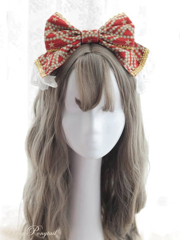 Masquerade Ballet Headbow (3 Colors),  Headband, Baby Ponytail gothic kawaii sweet japanese street fashion japan decora Lolita Collective