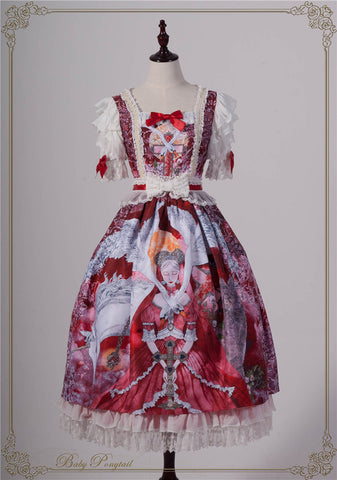 Magical Amulet Onepiece in Red,  Onepiece, Baby Ponytail gothic kawaii sweet japanese street fashion japan decora Lolita Collective