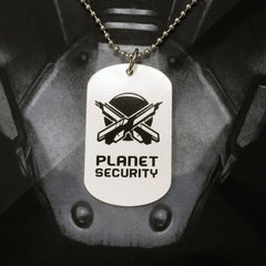 Outland - Planet Security Dog Tag
