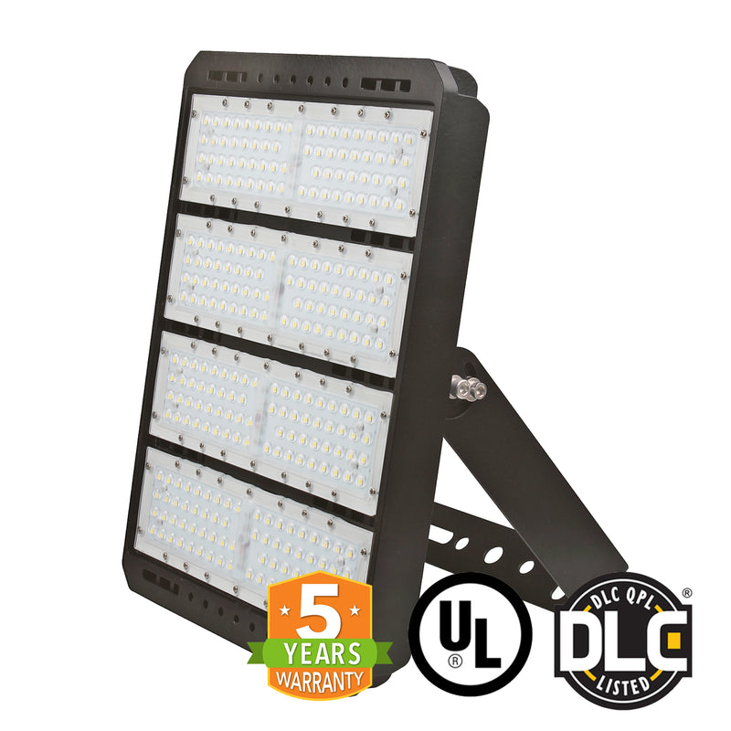 LED Flood Light - 300W - S Series - (UL+DLC) - 5 Year Warranty - Flood Mount - Black - Green Light Depot