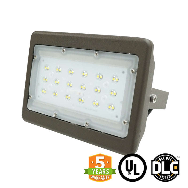 LED Flood Light - 30W - (UL+DLC) - 5 Year Warranty - Green Light Depot