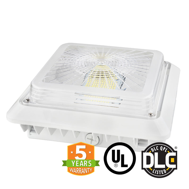 LED Canopy Light - 75W - Outdoor Parking Garage Light -  (UL+DLC Listed) - Green Light Depot